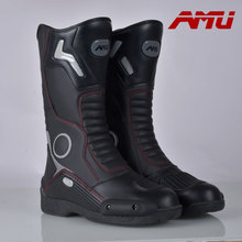 Leather motorcycle ride boots automobile race shoes tall boots male