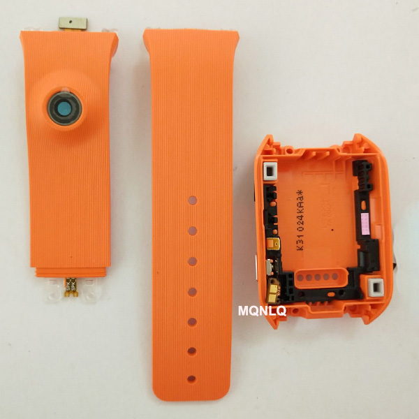 Sm V700 Housing For Samsung Galaxy Gear V700 SM-V700 Back Cover Door Rear Silicone Strap Band With Camera Hole