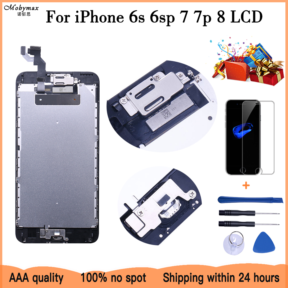Superior Quality LCD For iPhone 7 7 Plus 8 6s Plus Completed LCD Screen Assembly Replacement With Front Camera+Speaker+Gift image