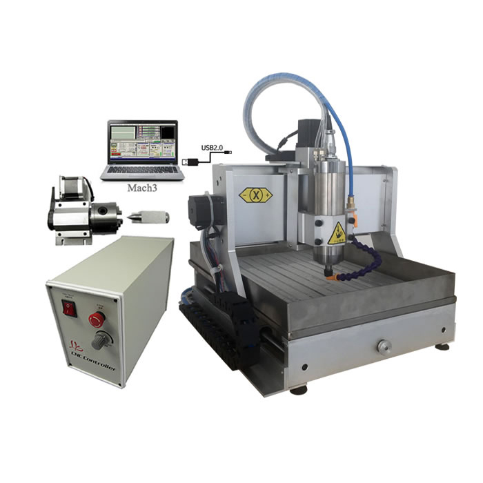 3020 CNC Milling Machine ER11 Jade Stone Metal Engraving Router With Water Sink USB LTP Port