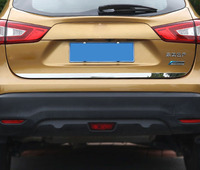 1pc for Nissan qashqai 2016 2017 Tailgate rear trim Trunk bright bar Stainless steel