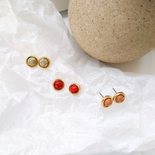 New fashion earrings geometric resin stud girl students women jewelry gift