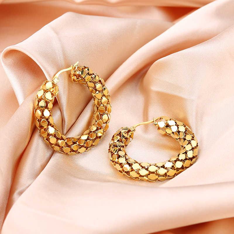 Innopes серьги, ювелирные изделия цепи большие золотые серьги-кольца для женщин вечерние подарок из нержавеющей стали ювелирные изделия