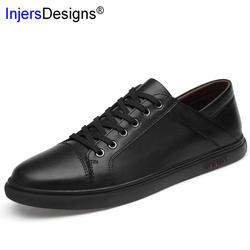 2019 Новая повседневная обувь из натуральной кожи для скейтбординга, мужские модные кроссовки, Zapatos De Hombre, удобная мужская обувь, большие