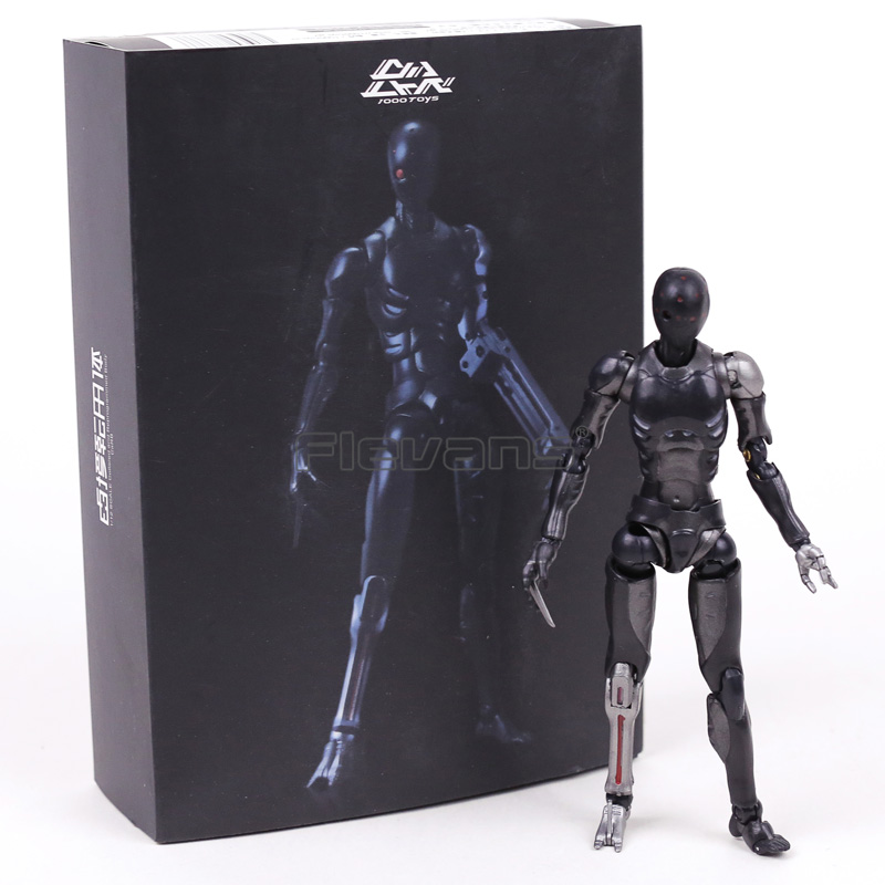 1000 Toys TOA Heavy Industries Synthetic Human Black Color Ver. 1/12 Scale Movable Figure Collectible Toy 3 Styles image