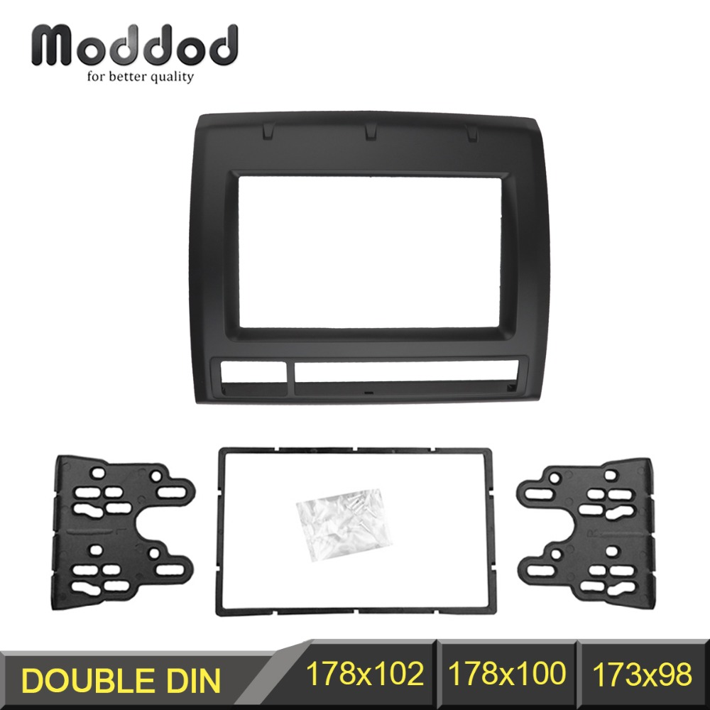 US $40 04 11% OFF|Double Din Fascia for Toyota Tacoma Radio DVD Stereo  Panel Dash Mounting Installation Trim Kit Face Frame Bezel-in Fascias from