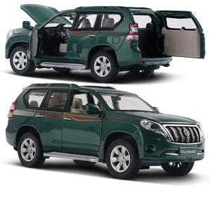 Image 3 - Modelo de aleación Toyota Prado 1:32 de alta calidad, juguetes de simulación para niños, modelo todoterreno, envío gratis