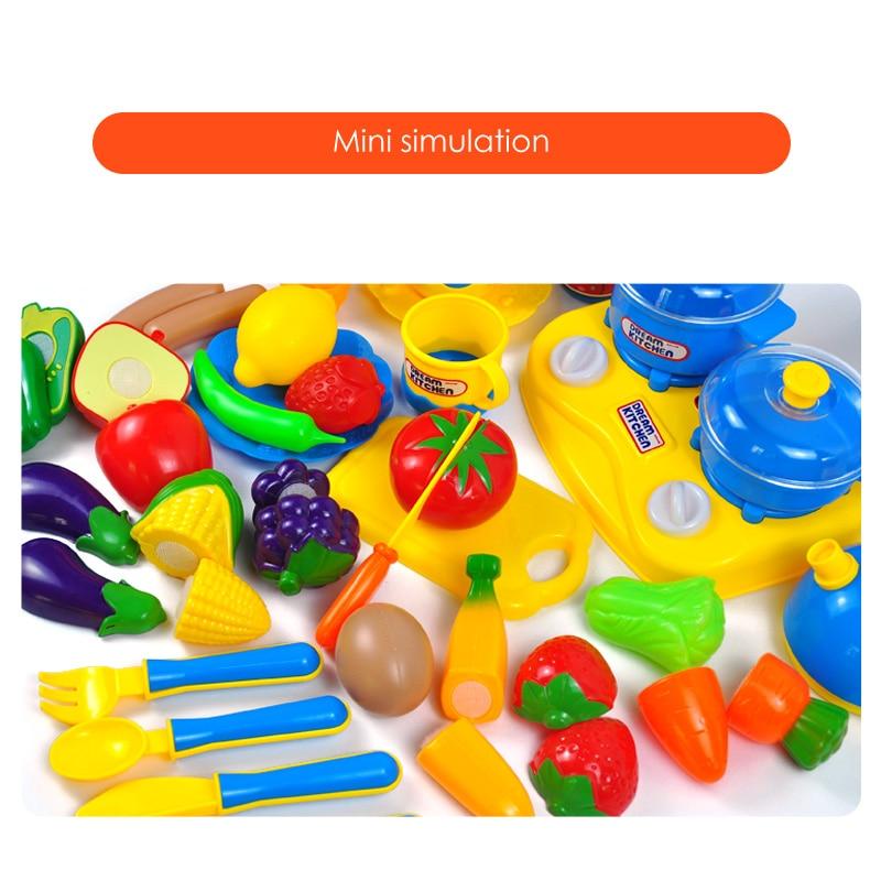 34 juegos de cocinas para niños jugar juguetes de casa frutas y - Juguetes clásicos - foto 3