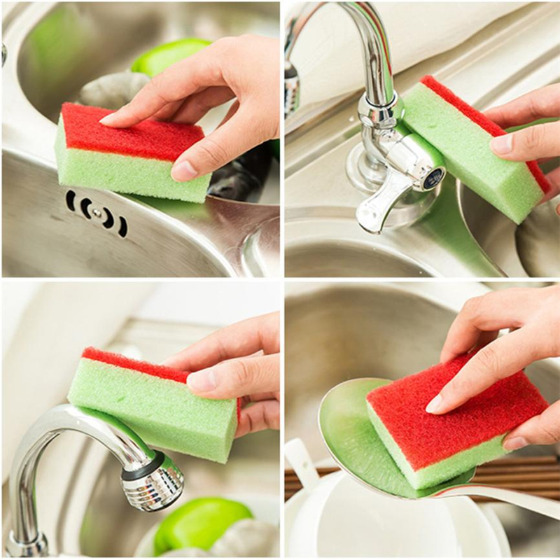 10PCS Cleaning Sponges Universal Sponge Brush Set Kitchen Cleaning Tools Helper Eco-Friendly easy Operation Clean Tool C0322#23