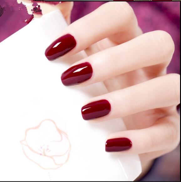 Mate color de la pintura manicura vino rojo esmalte de uñas en ...