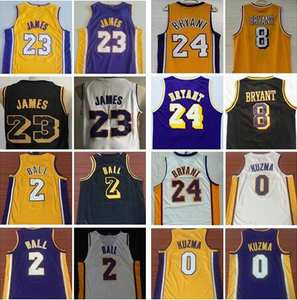 47b6aa88a60 Men's Los Angeles Basketball Shirt #23 LeBron James Jersey lakers Lonzo Ball  0 Kyle Kuzma 24 Bryant 8 Kobe Basketball Jerseys