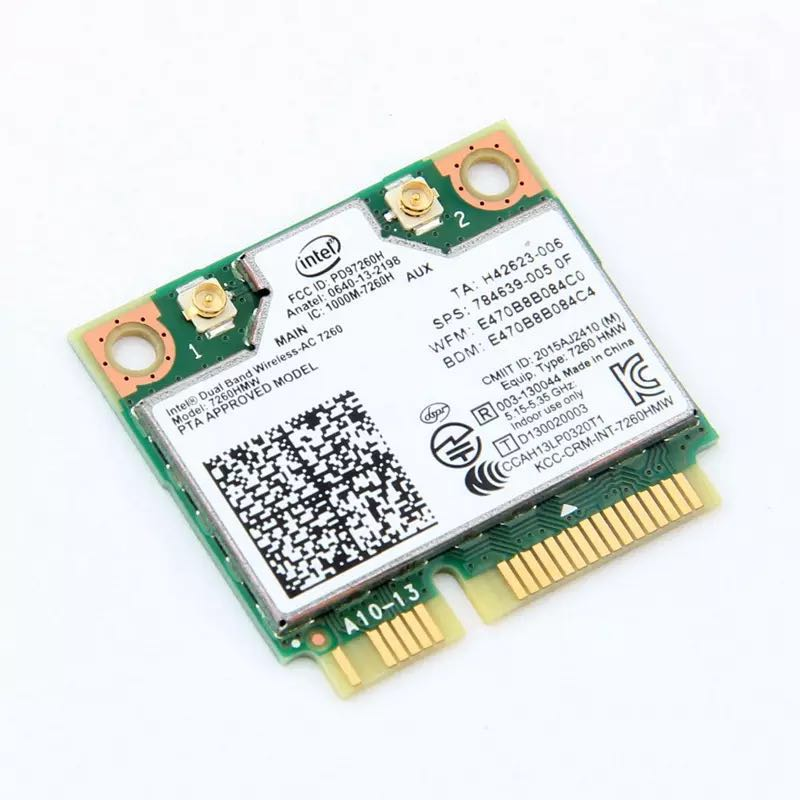 Image 2 - Dual Band Wireless Wifi Card For Intel AC7260 7260HMW ac Mini PCI E 2.4G/5Ghz Wlan Bluetooth 4.0 Wifi Card 802.11 ac/a/b/g/n-in Network Cards from Computer & Office