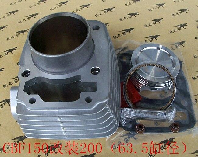 Engine Parts Motorcycle Cylinder Kit With Piston Pin For Honda XR150 CBF 150 CBF150 Upgrade CBF200 XR200 CF 200 piston assy 68mm for honda gx200 6 5hp enges free shipping cheap kolben w rings wrist pin