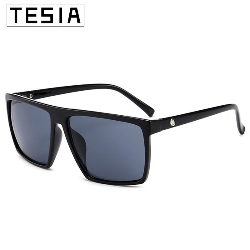Square Oversized Sunglasses Men Skull Mirror Coating Driving Glasses Flat Top Leopard Unisex Oculos ANTI UV400 Zonnebril Heren