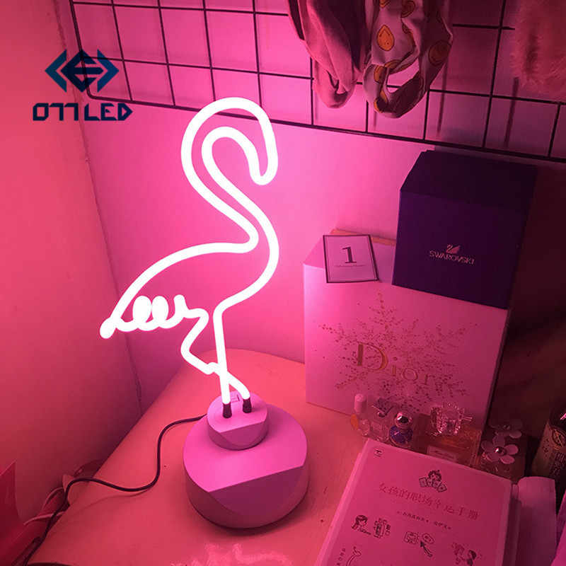 Neon Light Neon Sign Decoration LED Night Light Cloud Rainbow Flamingo Shape Colorful Desk Lamp for Indoor Wedding Illumination