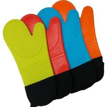 1PC Long Length Silicone Glove For Oven Heat Resistant Oven Gloves Cotton Mitt Silicone Baking Gloves For Microwave Kitchen Tool