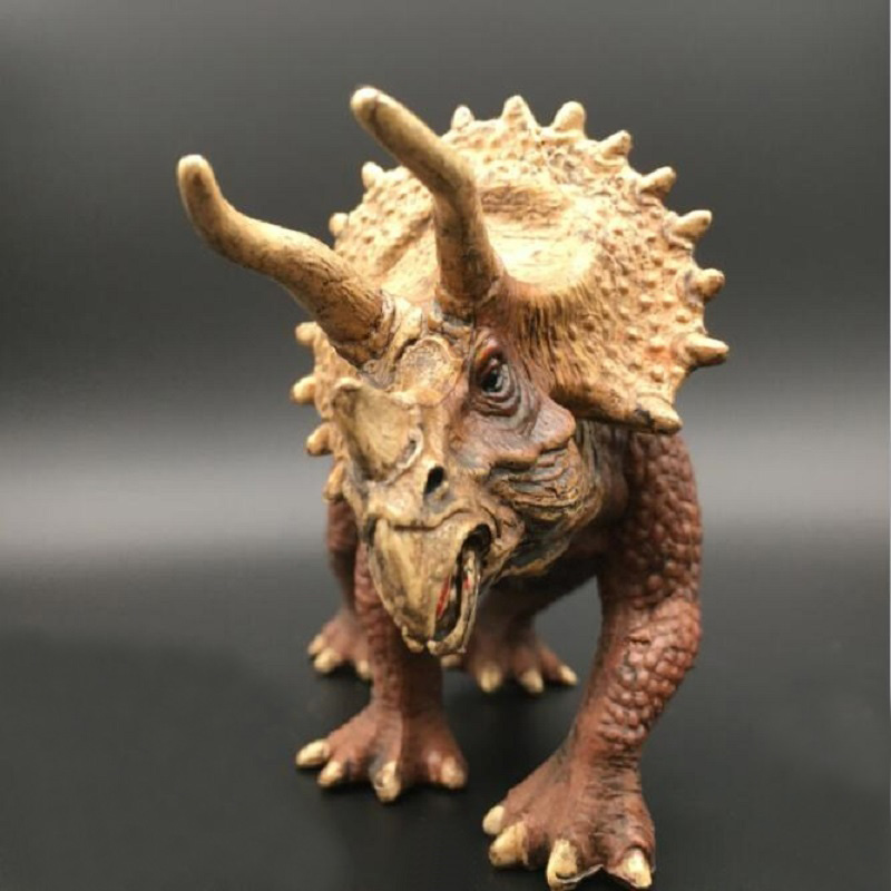 High Simulation Dinosaur World Solid Triceratops Toy Jurassic Park Dinosaur Display Model Brinquedos Kids Cartoon Birthday Gift jurassic world park tyrannosaurus rex styracosaurus plesiosaur brachiosaurus dinosaur plastic toy model children s gift