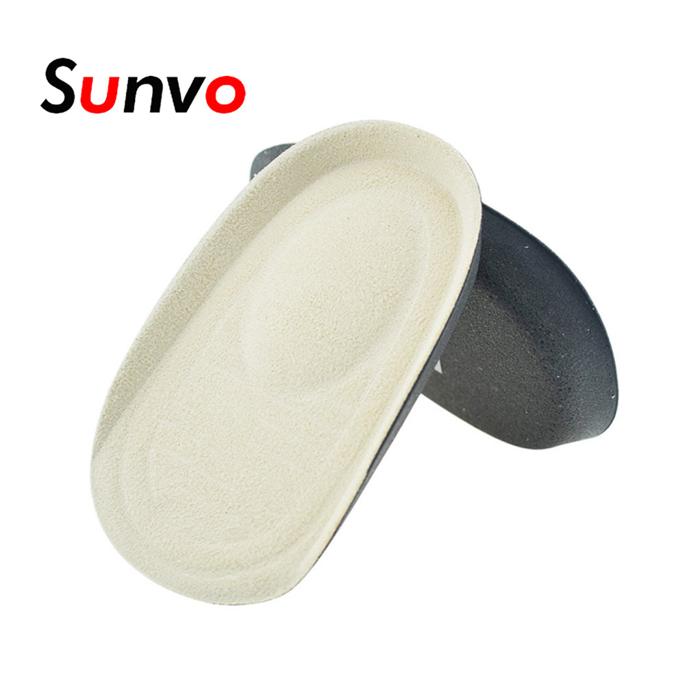 Sunvo Memory Foam Heel Insole Deodorant Feet Care Pain Relief Heel Cup Cushion Insert Pads Shock Absorbing Soles For Women Men