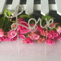 Free Shipping Love Words Cake Topper Wedding Gifts Party Supplier Cake Accessory CT 0099