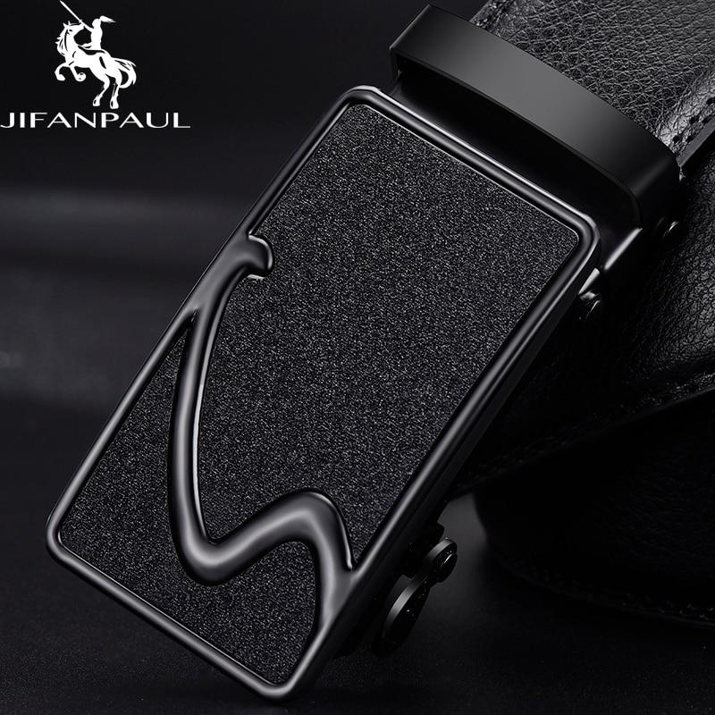 JIFANPAUL Men Brand Belt High Quality Authentic Luxury Leather Designer Belt Automatic Buckle Men's Business Belt Free Shipping