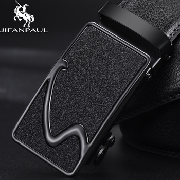 JIFANPAUL men brand belt high quality authentic luxury leather designer automatic buckle mens business free shipping