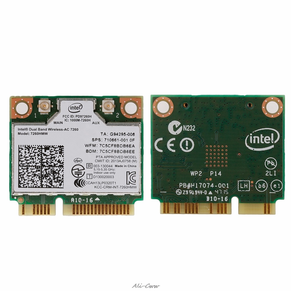 Intel Dual Band Wireless-AC 7260HMW Mini PCI-E BT4.0 Card For HP SPS 710661-001