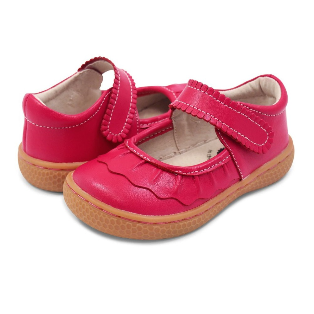 2018 Summer Kids Leather Shoes red