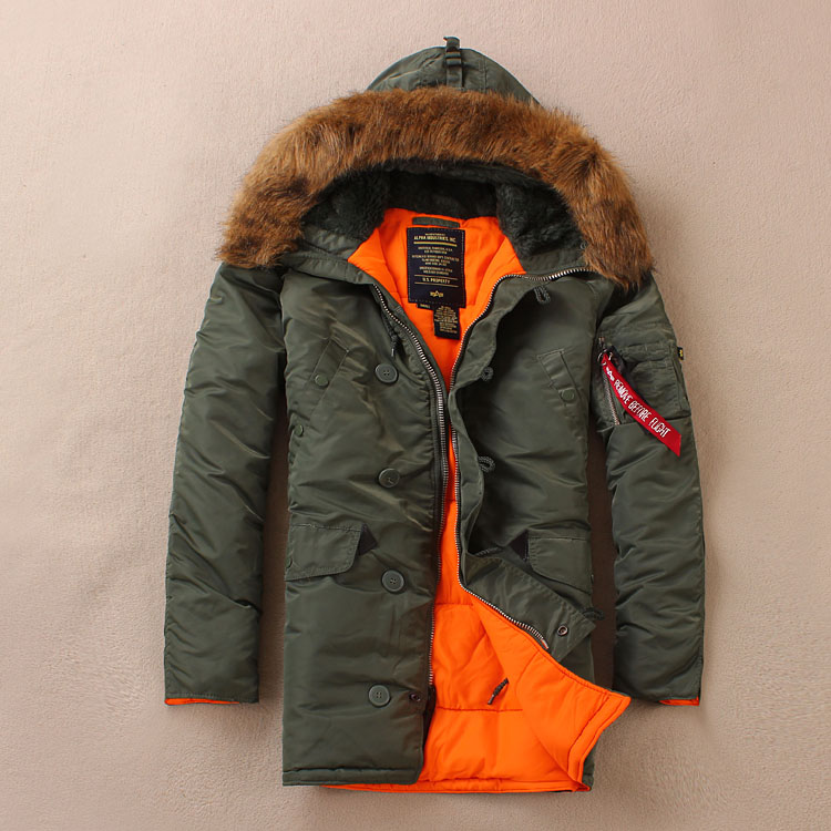 Alpha alpha for n3b n 3b male slim with a hood thickening military winter clothes wadded jacket cotton padded jacket cotton n3 ds jacket huntingjacket casual   АлиЭкспресс