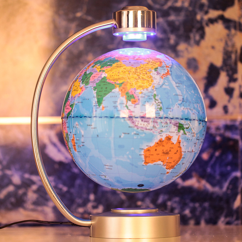 8 Inch Electronic Magnetic Levitation Floating Globe World Map with LED Lights for Boyfriend Christmas Gift Home Decoration floating globe magnetic levitation floating globe world map with led lights for children gift home office desk decoration