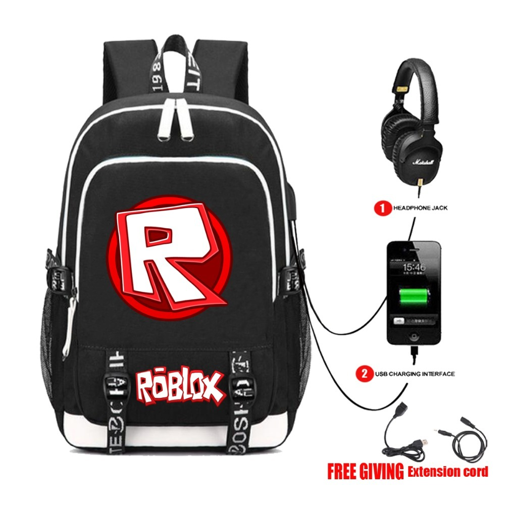 multifunction USB charging backpack Kids Boys