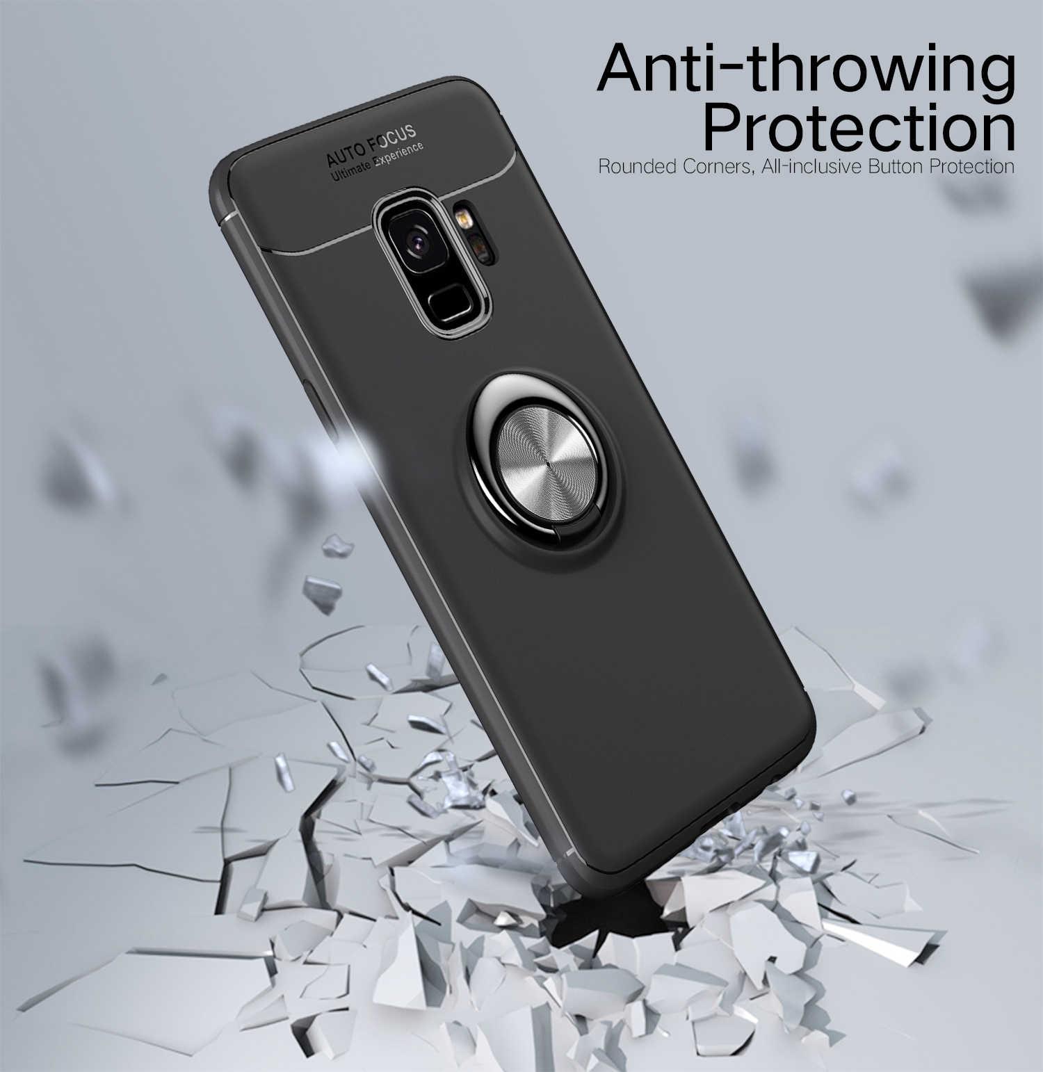 Ring Phone Case for Samsung Galaxy J2 Core J260 Funda J2 Core J 260  SM-J260F/DS SM-J260F Car Magnetic Hybrid Armor Bumper Cover