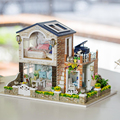 Кукольный Дом Мебель Diy Миниатюрный 3D Деревянные Miniaturas Dollhouse Игрушки для Детей Подарок На День Рождения Рождество Романтический Страна