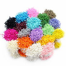 288pcs 3mm multi colors options pearl flower stamen pistil cake decoration for DIY Double heads 11030301(288)(China)