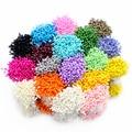 288pcs 3mm multi colors options pearl flower stamen pistil cake decoration for DIY Double heads 11030301(288)