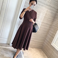 New  Pregnancy Clothes Knee-length Maternity Dresses  Zwangerschaps Kleding Maternity Clothes 6MDS067