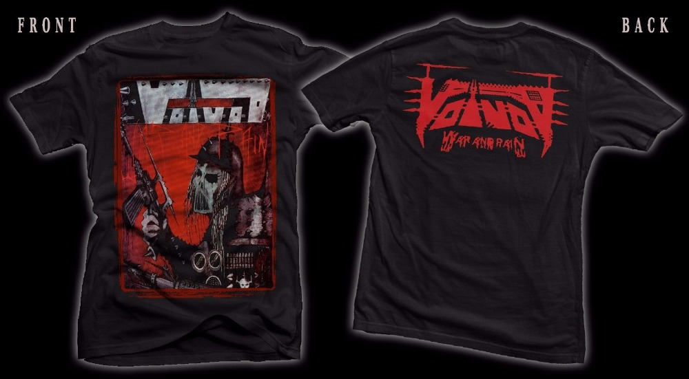 Tee Shirt Shop Short Voivod War And Pain Canadian Heavy Metal Band T-Shirt Sizes S To 3XL Crew Neck Short-Sleeve Mens T Shirts