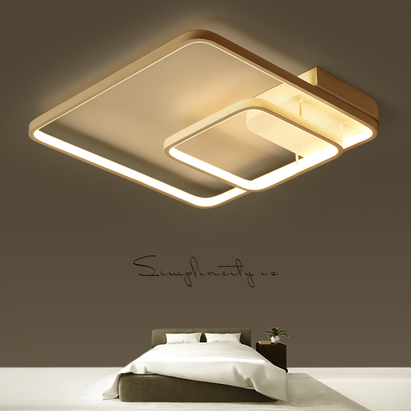 Surface mounted modern led ceiling chandelier lights for study room bedroom Kids Aluminum White chandelier fixtures lampshade