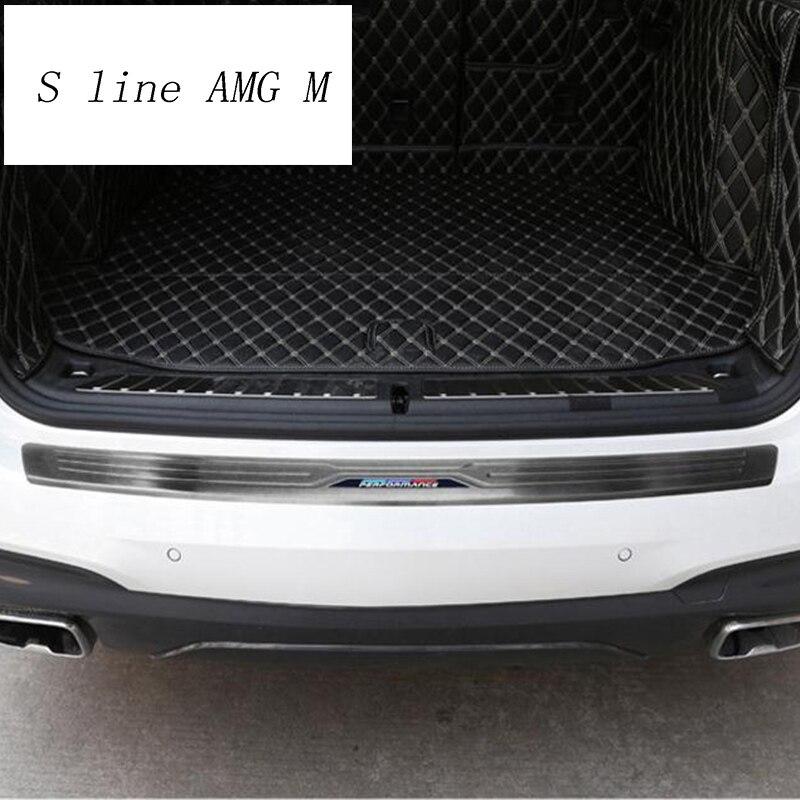 Style de voiture pour bmw x3 g01 accessoires autocollant couvre garniture de coffre arrière protecteur de pare-chocs Auto décoration Protection panneau intérieur