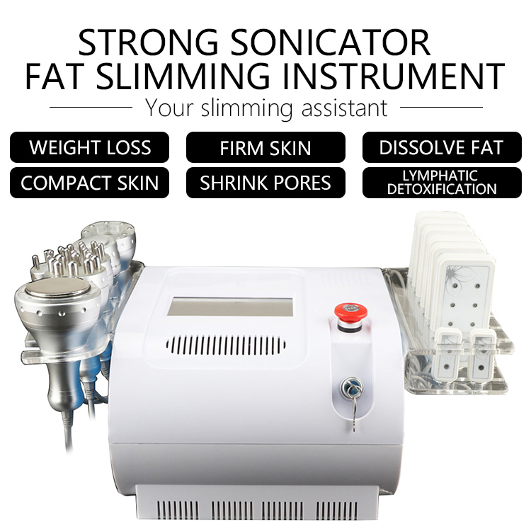 7 In 1 Vacuum Rf Ultrasonic Slimming Cavitation Machine Massage Machine For Boby And Face CE DHL
