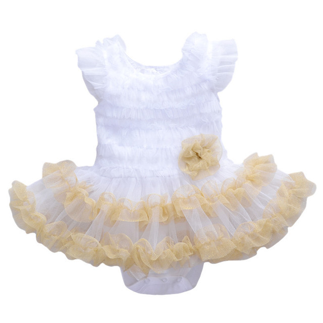 Baby Girl Clothes Dress Girl Bodysuit Christening Gowns Girls Princess Party Childen Clothing Set Funny Birthday ABB-1512