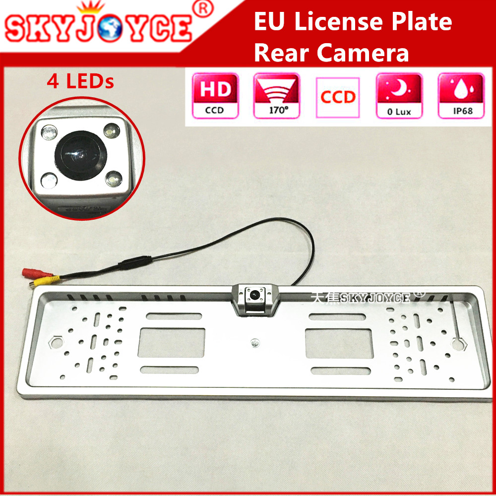 Freeshipping Black Silver Rear View Camera European License Plate Reverse Parking Sensor Circuit For Car Security System Ccd Auto Backup Eu Russia Lada Niva Kalina 3d Emblem Frame Rearview Light Ledusd 1379 Set