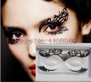 Face lace eye shadow sticker lk007 makeup artistic eye for Eye temporary tattoo makeup