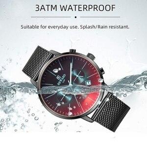 Image 4 - גמול חדש אופנה הכרונוגרף שעון גברים למעלה מותג יוקרה צבעוני שעון עמיד למים ספורט גברים שעון נירוסטה שעון
