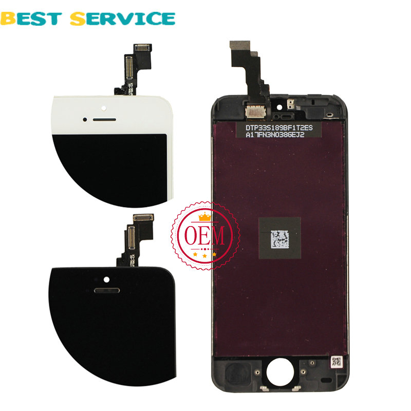 CHN or US Warehouse LCD For iPhone 5S 5c 5 LCD Display with Touch Screen Digitizer Assembly Black/White + Tools Free Shipping