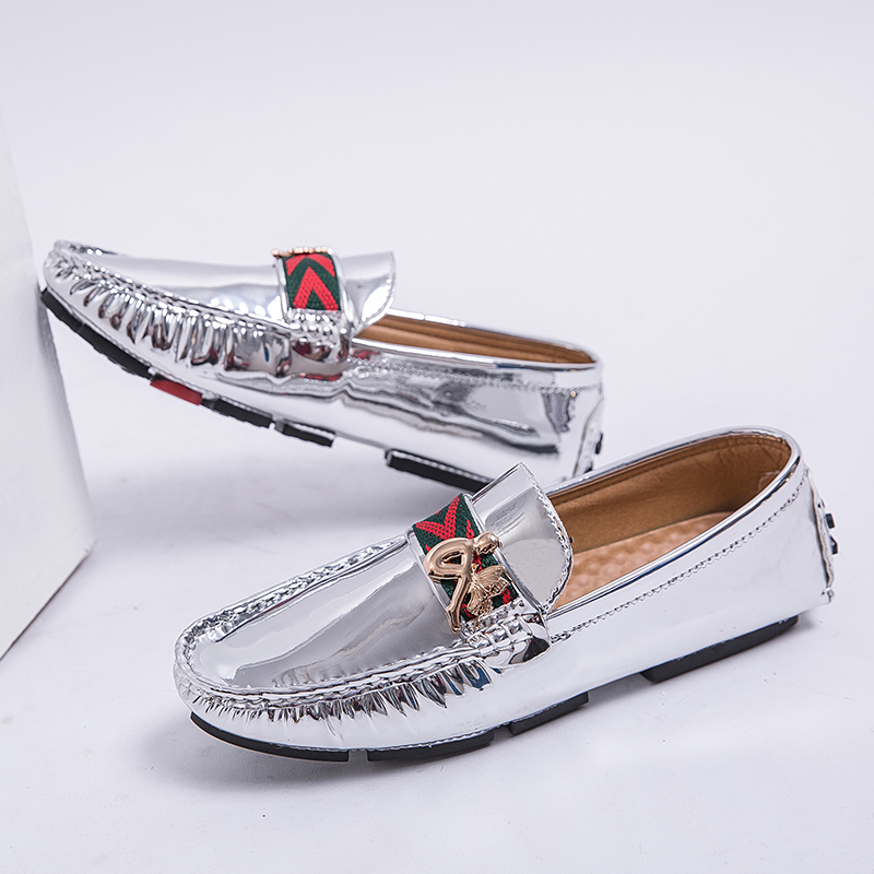 Loafers Men Shoes Driver-Sneakers Silver Fashionable Big-Size Casual 38-48 for Gold Luxury