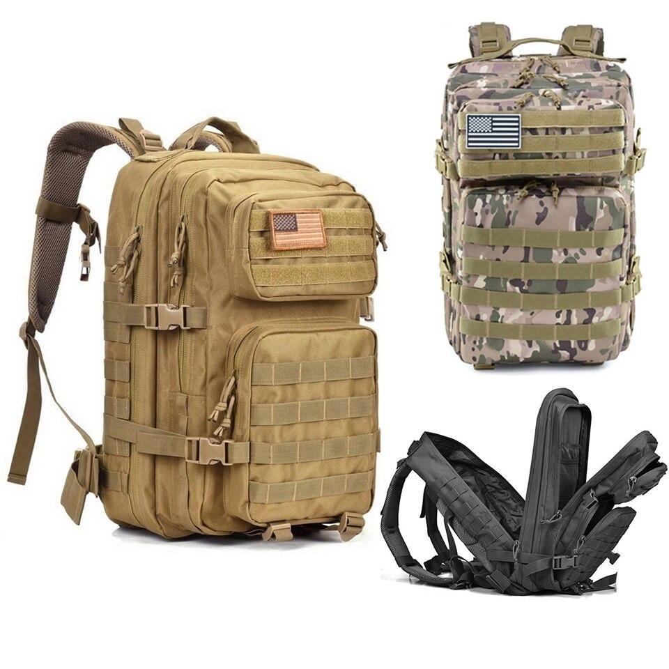 43L Outdoor Backpack Military Tactical Backpacks Men Waterproof Backpacking Large Capacity Army Bag Pack Hiking Camping Rucksack43L Outdoor Backpack Military Tactical Backpacks Men Waterproof Backpacking Large Capacity Army Bag Pack Hiking Camping Rucksack