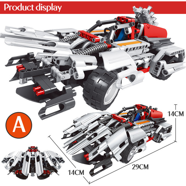 408Pcs City Transform Mechanical Master Car Bricks Compatible Technic RC Car 2 In1 Building Blocks Toys for Children