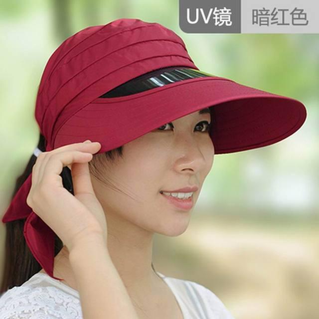 Летнее солнце-затенение шляпа женская анти-уф большой складной солнцезащитный крем вс шляпа шляпа летом