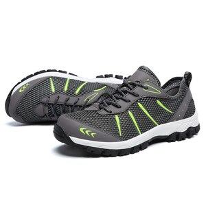 Image 4 - ZIMNIE erkekler yaz nefes rahat hava örgü ayakkabı erkekler rahat eğitmenler ayakkabı erkek Out yürüyüş ayakkabısı büyük büyük boy 39 ~ 48