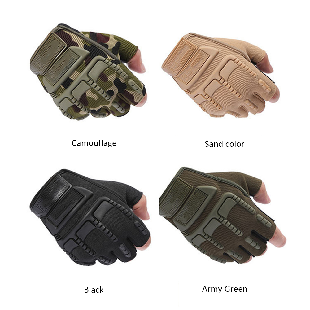 Outdoor Supplies Army Combat Tactical Men Full Finger Anti-slip Military SWAT Soldier Gloves Sand Color XL
